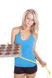 Blue top muffins tape Royalty Free Stock Images
