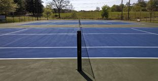 Blue Top Tennis Courts Royalty Free Stock Images