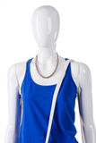 Blue top and white strap. Royalty Free Stock Photography