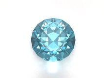 Blue topaz gem Royalty Free Stock Images