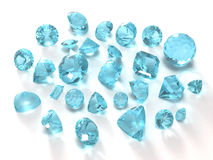 Blue topaz gems Royalty Free Stock Photos