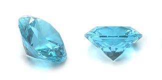 Blue topaz gems stock illustration