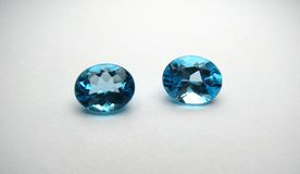 Blue Topaz Gemstones Royalty Free Stock Photo