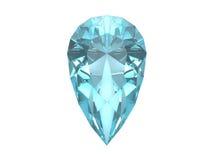 Free Blue Topaz Isolated On White Background Royalty Free Stock Photos - 5818898