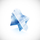 Blue topaz shard crystal icon logo  template Stock Images