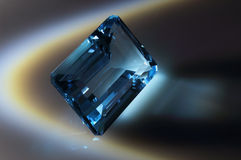 Blue topaz. Sky Topaz. Cut stones Royalty Free Stock Images