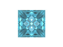Blue topaz. Square form. Royalty Free Stock Images