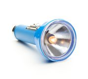 Blue torch type flashlight Royalty Free Stock Photography