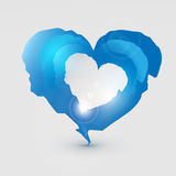 Blue torn heart Royalty Free Stock Images