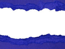 Blue torn paper Stock Photo