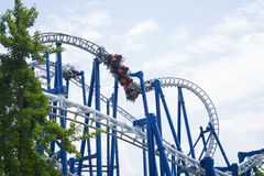 Blue Tornado. Attraction in Gardaland - Blue Tornado Royalty Free Stock Photo