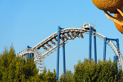 The Blue Tornado - Gardaland - Castelnuovo del Garda royalty free stock images