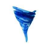 Blue tornado in technology style on white, vector. Design Stock Photo