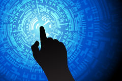 Blue Touch Future Technology Internet Security Background Stock Photography