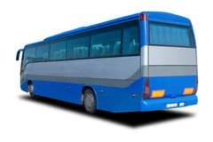 Blue Tour Bus royalty free stock photos