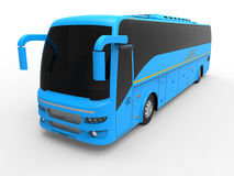 Blue tour bus Royalty Free Stock Images