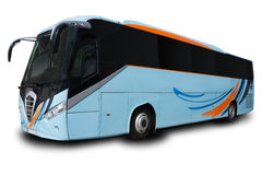Blue Tour Bus Royalty Free Stock Image