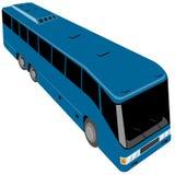 Blue tourist bus Royalty Free Stock Photo