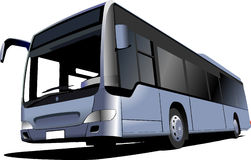 Blue Tourist bus. Coach Royalty Free Stock Photography