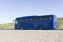 Blue Tourist Bus Stock Photography