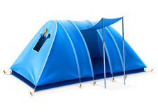 Blue Tourist Tent For Travel And Camping Royalty Free Stock Photo