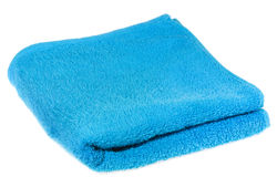 Blue towel Stock Images