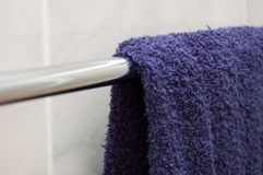 Blue Towel. Hanging Blue Towel Royalty Free Stock Photos