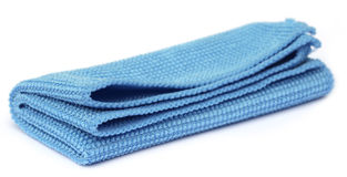 Blue towel Royalty Free Stock Image
