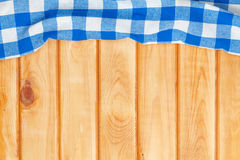 Blue towel over wooden kitchen table Stock Photography