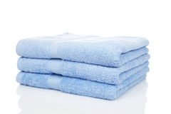 Blue towels Stock Photo