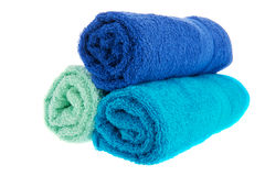 Blue towels Stock Image