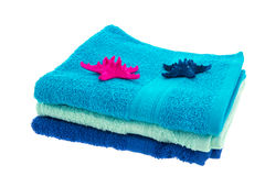 Blue towels Stock Photos