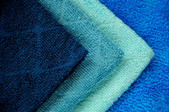 Blue towels Stock Images