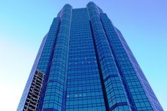 Blue Tower. In a modern architectural style Stock Photo