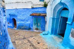 Blue town Chefchaouen Stock Photography