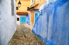 Blue town Chefchaouen Royalty Free Stock Image
