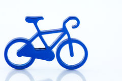 Blue toy bicycle  Royalty Free Stock Image