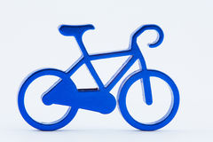 Blue toy bicycle  Stock Images