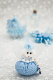 Blue Toy for Boy Prepared as a Gift for Baby Shower Royalty Free Stock Photography