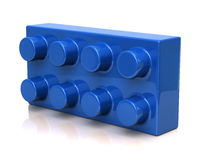 Blue toy brick Stock Images