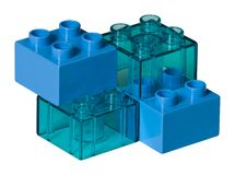 Blue toy bricks Stock Photo