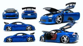 Blue Toy Car Different Angles Stock Image