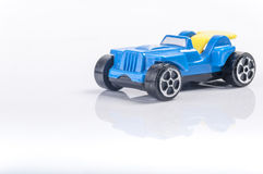 Blue toy car Stock Images