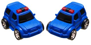 A blue toy car police van royalty free stock photography