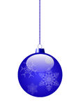 Blue Toy. For decoration of a Christmas fir-tree. vector EPS 10 Stock Photo