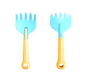 Blue toy spade Royalty Free Stock Image