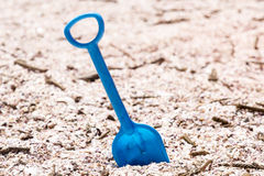 Blue Toy Spade Royalty Free Stock Photo