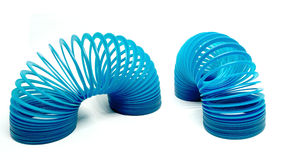Blue Toy Spring stock image