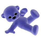 Blue toy teddy bear Royalty Free Stock Image
