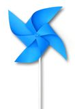 Blue toy windmill. Hand made paper blue toy windmill Royalty Free Stock Photo